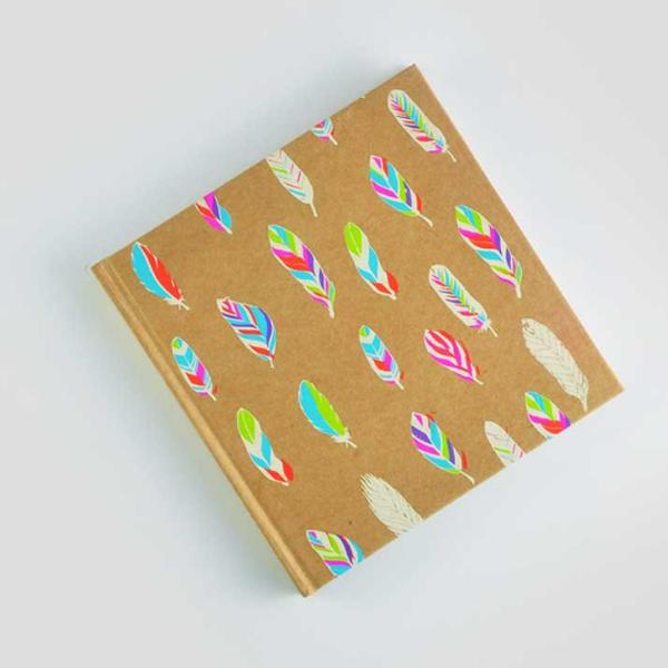 Feather Color- Hardcover Blank Square Notepad-STATIONERY-PropShop24.com
