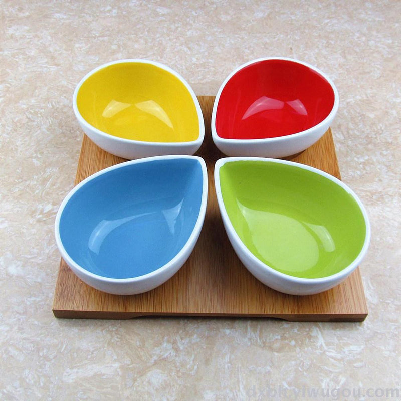Serving Bowls With Bamboo Tray - Lamp-DINING + KITCHEN-PropShop24.com