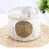 Canvas Basket - Stuff - White-HOME-PropShop24.com