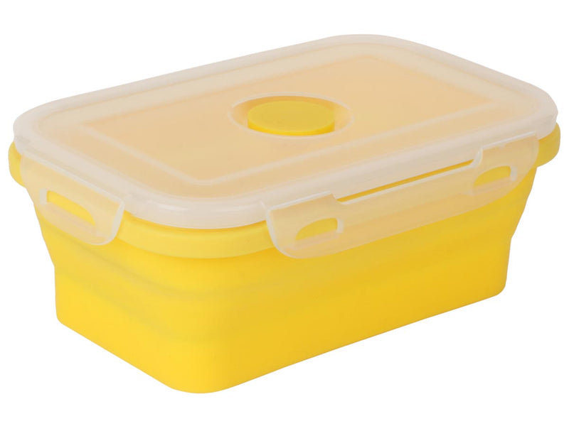 Collaspsible Silicon Lunch Box - 540Ml - Yellow-DINING + KITCHEN-PropShop24.com