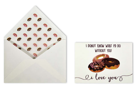 love card - donut-Stationery-PropShop24.com