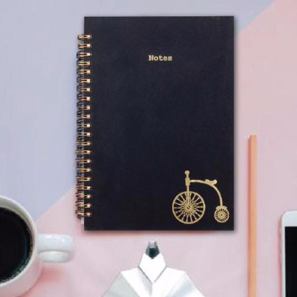 notebook - vintage cycle - gold foiled-Stationery-PropShop24.com