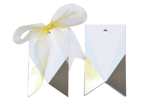 Asymmetrical Gift tags (Blue) - Set of 12-STATIONERY-PropShop24.com