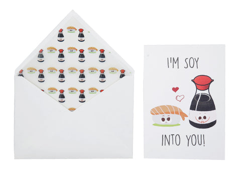 Greeting Card - Soy Into You Love-STATIONERY-PropShop24.com