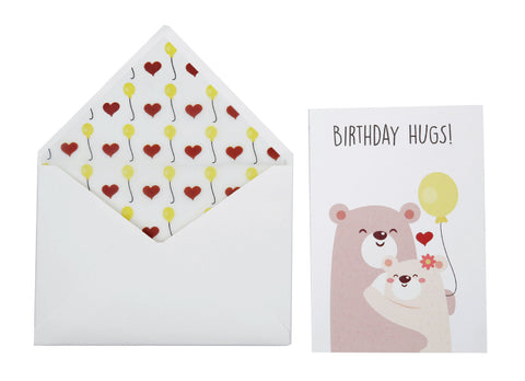 Greeting Card - Birthday Hugs Love-STATIONERY-PropShop24.com