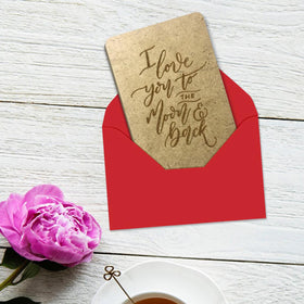 Wooden Cards - Love you to the Moon and Back-STATIONERY-PropShop24.com
