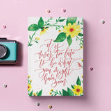 Diary - Never too late - Yellow-STATIONERY-PropShop24.com