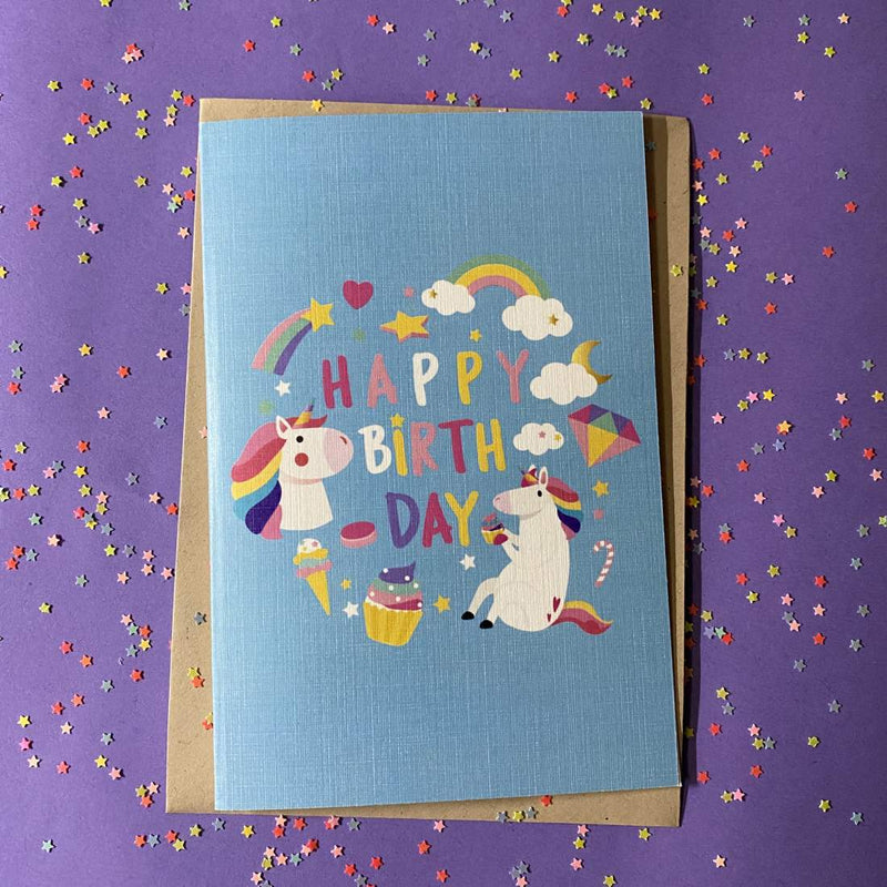 Greeting Card - Doodle Unicorn-GREETING CARDS-PropShop24.com