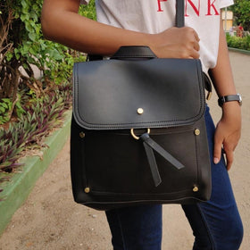 0a36a90a33 Backpack with Sling - Black-FASHION-PropShop24.com
