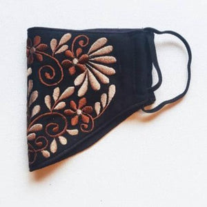 Face Mask - Embroidered - Black-PropShop24.com