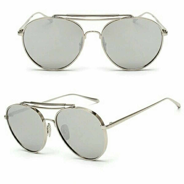 Sunnies - Rounded Aviators - Silver-Fashion-PropShop24.com