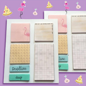 Sticky Notes - Pink Flamingo-NOTEBOOKS + JOURNALS-PropShop24.com