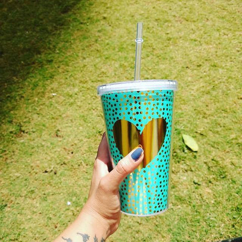 Sipper - Teal Green & Gold