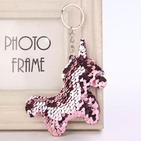 Sequin Keychain - Rose Gold Unicorn-FASHION-PropShop24.com