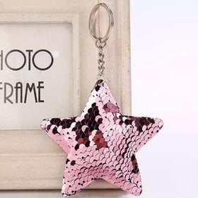Sequin Keychain - Rose Gold Star-FASHION-PropShop24.com