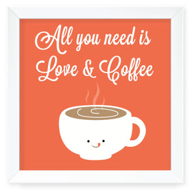 Coffee Affair Wall Art with Frame-HOME-PropShop24.com