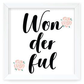 You are wonderful Wall Art with Frame-HOME-PropShop24.com