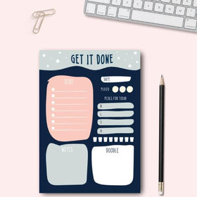 Planner-Get it Done - Daily Planner - A5 Size - 50 Sheets Pad-STATIONERY-PropShop24.com