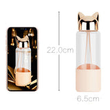 Glass Bottle - Luxurious Fox Eco Friendly Glass Water Bottle-HOME-PropShop24.com