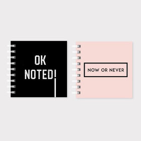 Notepad-Cute Mini Notepads - Set of 2 - Plain - Ok Noted & Now or Never-STATIONERY-PropShop24.com