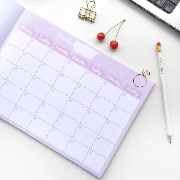Planner-Undated Monthly Planner Pad - 48 Tear off Sheets - A4 Size-STATIONERY-PropShop24.com