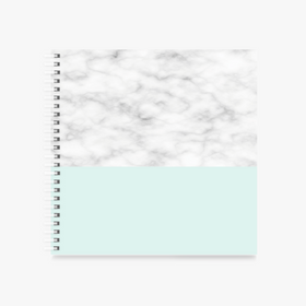 "Notebook-Subtle Marble square Spiral Notebook - 8 x 8 ""-STATIONERY-PropShop24.com"
