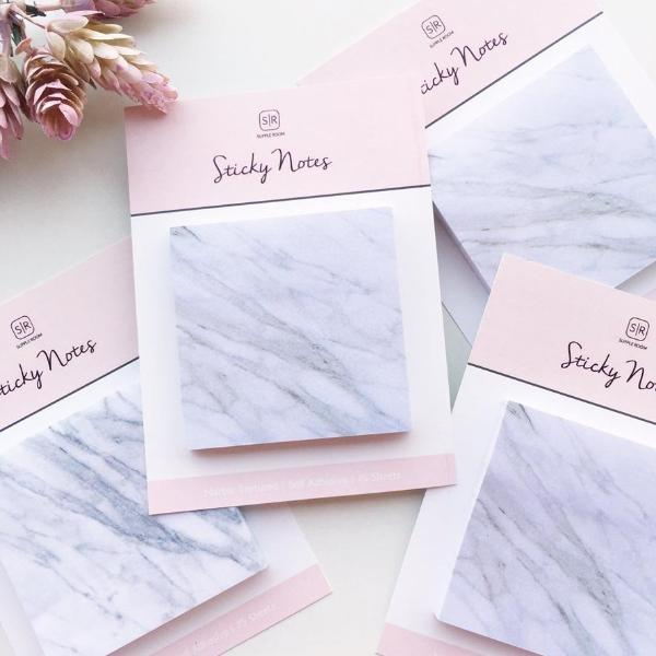 Sticky Notes-Marble Sticky Notes - Self Adhesive - 70 sheets-STATIONERY-PropShop24.com