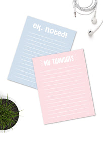 Notepad-Pastel Blue and Pink Notepads - Set of 2 - 7 x 5.5 inches-STATIONERY-PropShop24.com