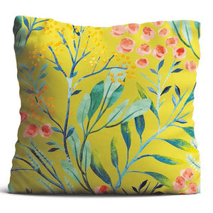 Cushion Cover - Berries - Mustard-HOME ACCESSORIES-PropShop24.com