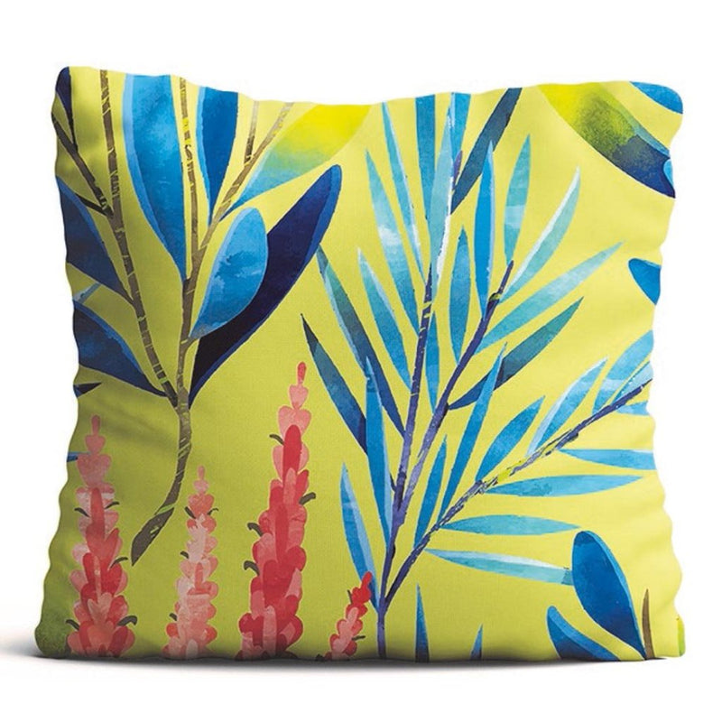 Cushion Cover - Rustling Leaves - Mustard-HOME ACCESSORIES-PropShop24.com
