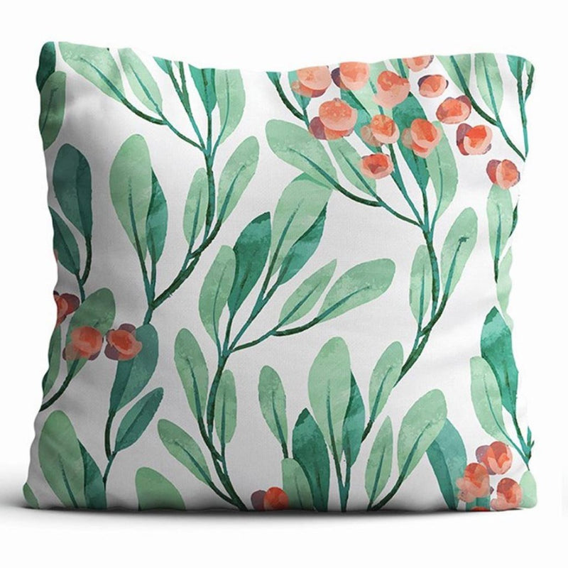Cushion Cover - Lush Greens - Ivory-HOME ACCESSORIES-PropShop24.com