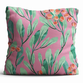Cushion Cover - Lush Greens - Pink-HOME-PropShop24.com