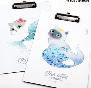 Writing Clipboard Exam Pad - Mermaid Cat-DESK ACCESSORIES-PropShop24.com