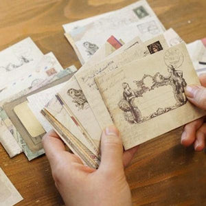 Mini Vintage Envelopes With Card - Set Of 6-GIFTING ACCESSORIES-PropShop24.com