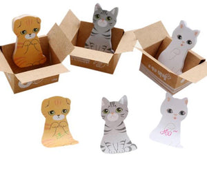 Cat Sticky Notes In A Box - Mini-NOTEBOOKS + JOURNALS-PropShop24.com