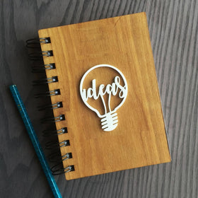 Wooden. Notebook - ideas-STATIONERY-PropShop24.com