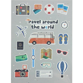 Stickers - Travel around the World-STATIONERY-PropShop24.com