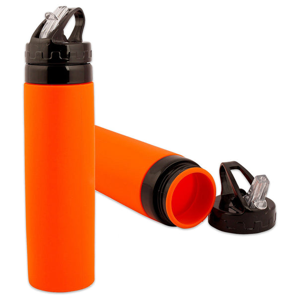 Silicone Water Bottle - Orange-Home-PropShop24.com