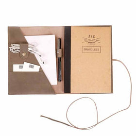 Leather Daybook - GREY-STATIONERY-PropShop24.com