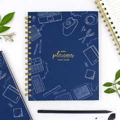 Daily Planner - Blue - Open Dated-NOTEBOOKS + JOURNALS-PropShop24.com
