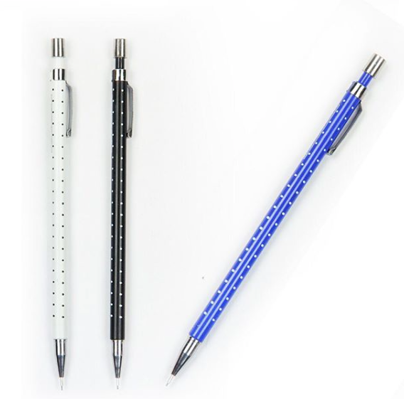 Click Pencil - Polka- Set Of 3-PENS + PENCILS + PAPER CLIPS-PropShop24.com