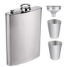 Hip Flask Gift Set - Silver-BAR + PARTY-PropShop24.com