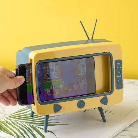 TV Tissue Box With Phone Stand - Single Piece-DINING + KITCHEN-PropShop24.com