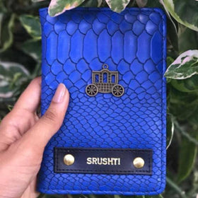 Personalized Passport Cover - Carriage - Croco Blue - C.O.D Not Available-Fashion-PropShop24.com