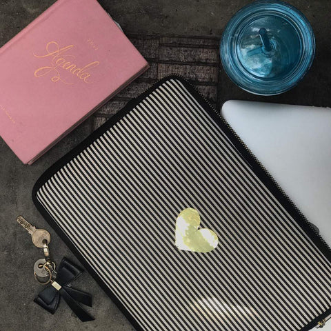 Laptop Sleeve - Heart - Black & White-Gadgets-PropShop24.com