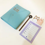 Faux Leather Dairy - Ice Blue - Love what you do-STATIONERY-PropShop24.com