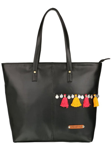tote - boho - black-FASHION-PropShop24.com