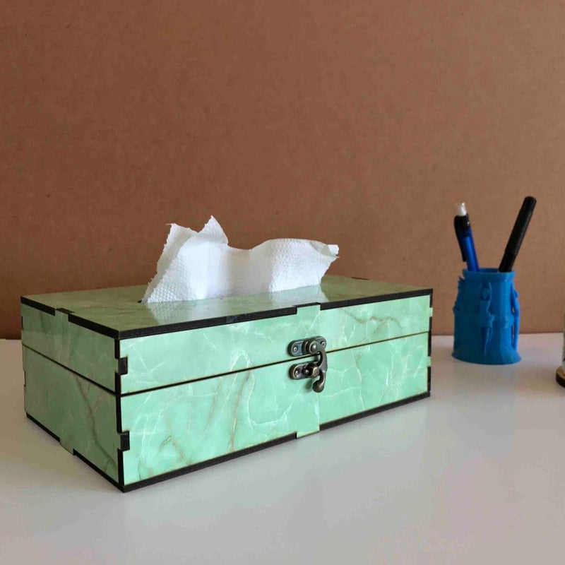 Green Marble Tissue Box-DINING + KITCHEN-PropShop24.com