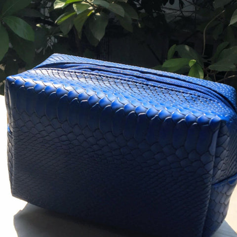 Travel Kit - Blue Croco