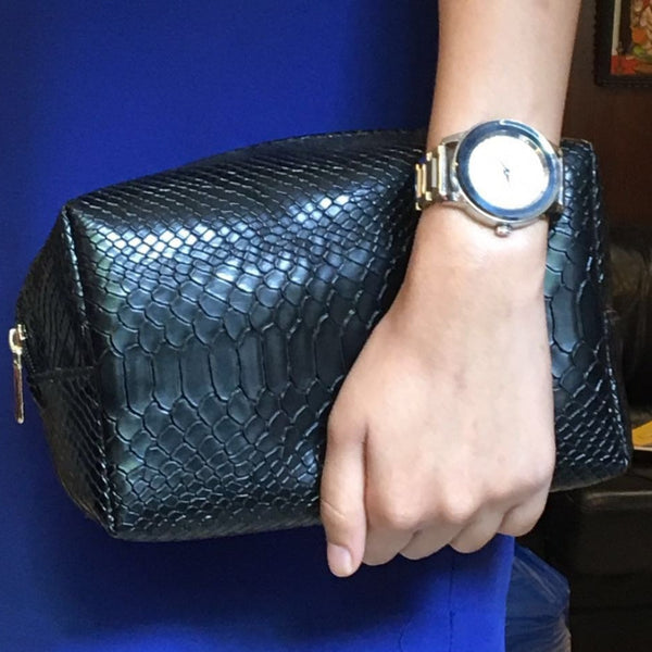 Travel Kit - Black Croco-Fashion-PropShop24.com